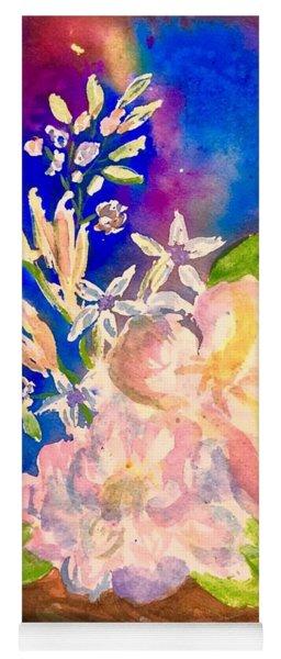 White Flowers Still Life  Yoga Mat