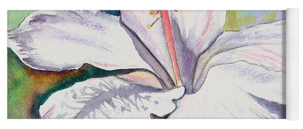 White Hibiscus Waimeae Yoga Mat