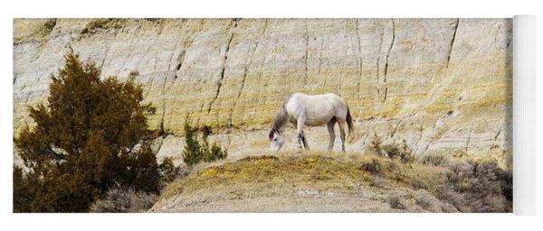 White Horse On A Mound Yoga Mat
