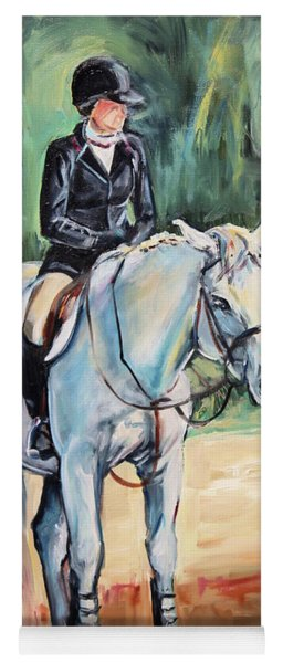 White Horse With Rider  Yoga Mat