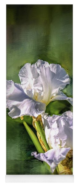 White Iris On Abstract Background #g4 Yoga Mat