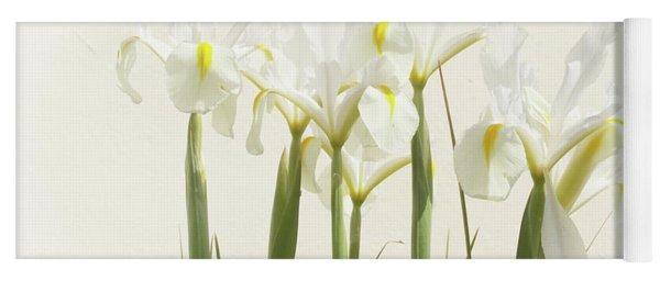 White Iris Yoga Mat