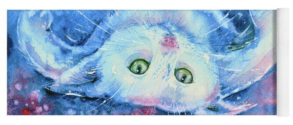 White Kitten  Yoga Mat