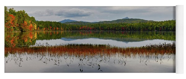 White Lake Fall Chocorua Nh Yoga Mat