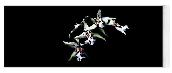 White Leopard Orchid Yoga Mat