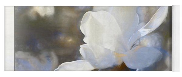 White Magnolia Flower Blossom In The Sunlight Yoga Mat