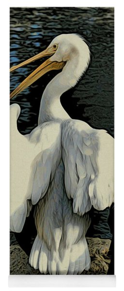 White Pelican Spread Yoga Mat