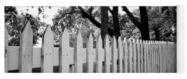 White Picket Fence- By Linda Woods Yoga Mat