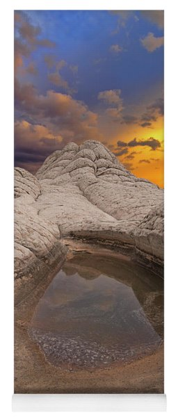 White Pocket Sunset Yoga Mat