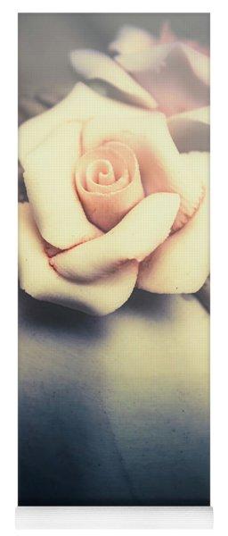 White Porcelain Rose Yoga Mat