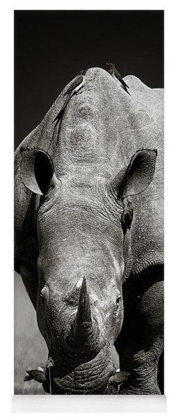 White Rhinoceros  In Due-tone Yoga Mat
