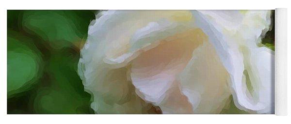 White Rose In Paint Yoga Mat