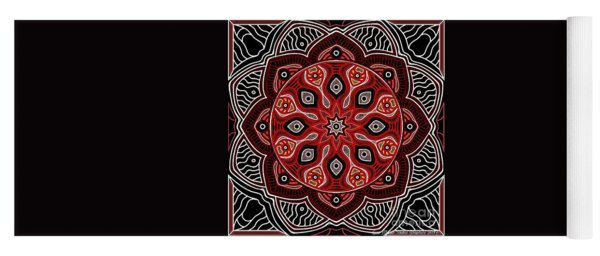White Rose Yoga Mat