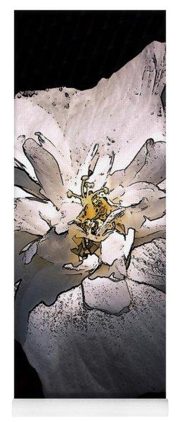 White Rose Of Sharon Yoga Mat