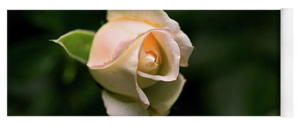 White Rosebud Yoga Mat