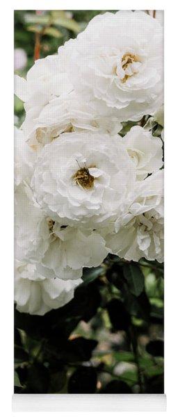 White Roses Yoga Mat