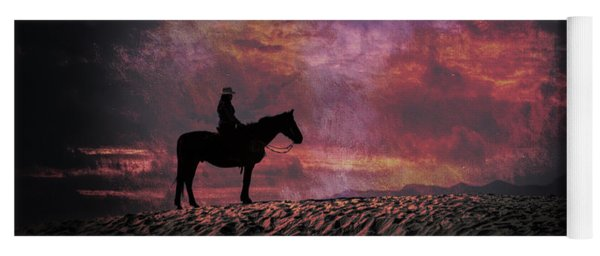 White Sands Horse And Rider #4c Yoga Mat
