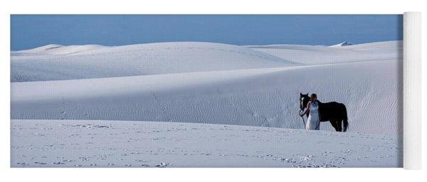 White Sands Horse And Rider #5b Yoga Mat