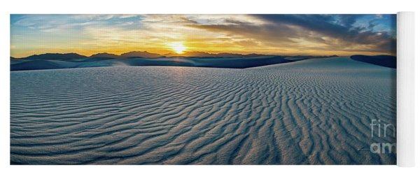 White Sands Sunset Panorama Yoga Mat