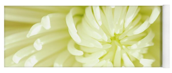 White Spider Mum Yoga Mat