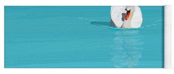 White Swan Blue Lake Yoga Mat