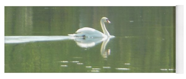White Swan Silhouette Yoga Mat