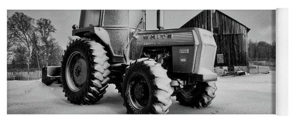 White Tractor Yoga Mat