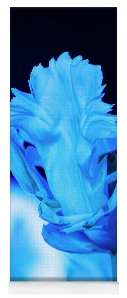 White Tulip - Blue Yoga Mat