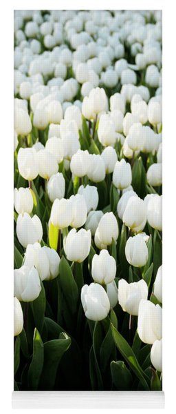 White Tulips In The Garden Yoga Mat