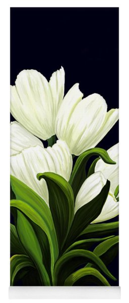 White Tulips Yoga Mat