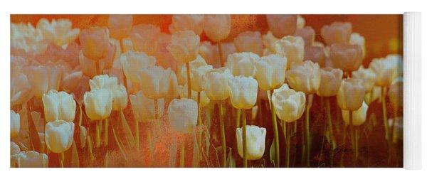 White Tulips Yoga Mat