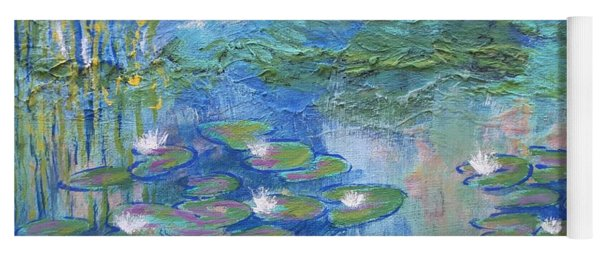 White Water Lilies Yoga Mat