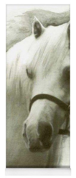 White Welsh Pony Yoga Mat