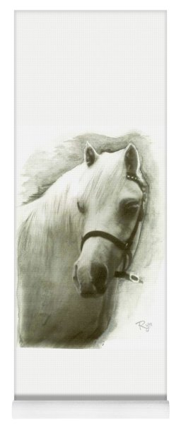 White Welsh Pony Yoga Mat