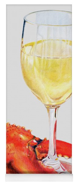 White Wine And Lobster Claw Yoga Mat