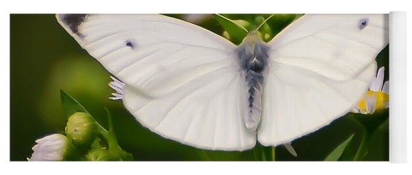 White Wings Of Wonder Yoga Mat