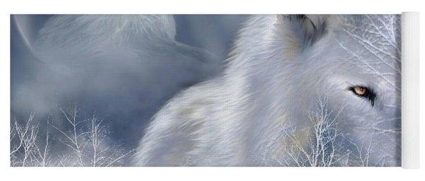 White Wolf Yoga Mat
