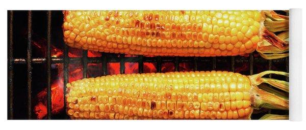 Whole Corn On Grill Yoga Mat