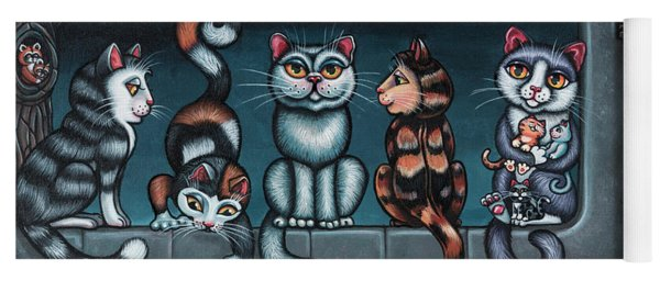 Whos Your Daddy Cat Painting Yoga Mat