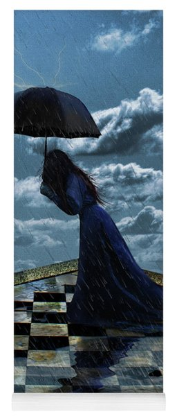 Widow In The Rain Yoga Mat
