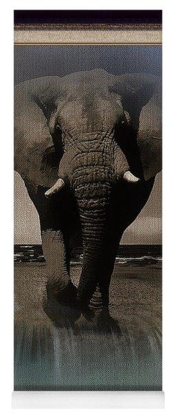 Wild Elephant Montage Yoga Mat