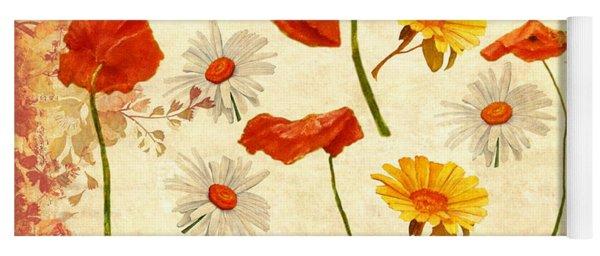 Wild Flowers Vintage Yoga Mat