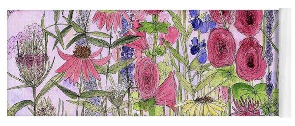 Wild Garden Flowers Yoga Mat
