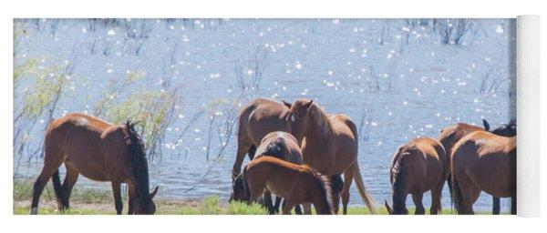 Wild Horses At Washoe Lake Yoga Mat