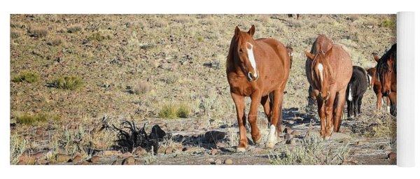 Wild Horses Yoga Mat