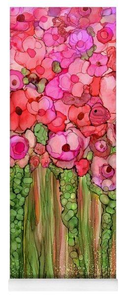 Wild Poppy Garden - Pink Yoga Mat