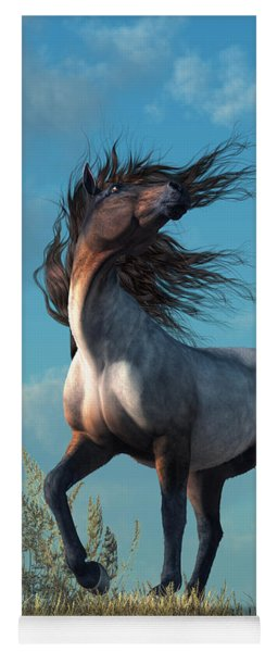 Yoga Mat featuring the digital art Wild Roan by Daniel Eskridge
