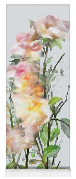 Yoga Mat featuring the painting Wild Roses by Ivana Westin