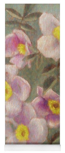 Wild Roses Yoga Mat
