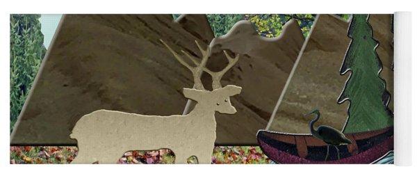 Wild Rural Animals Yoga Mat